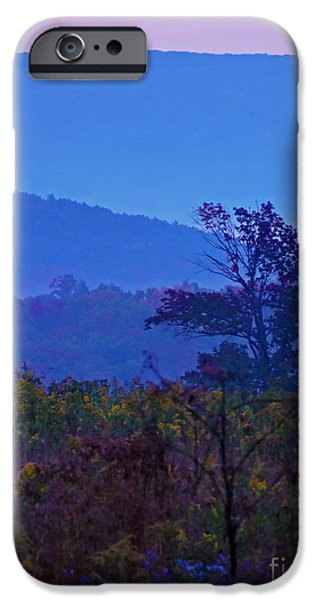 Fog Mist iPhone Cases - Beyond the Last Mountain iPhone Case by Helene Guertin