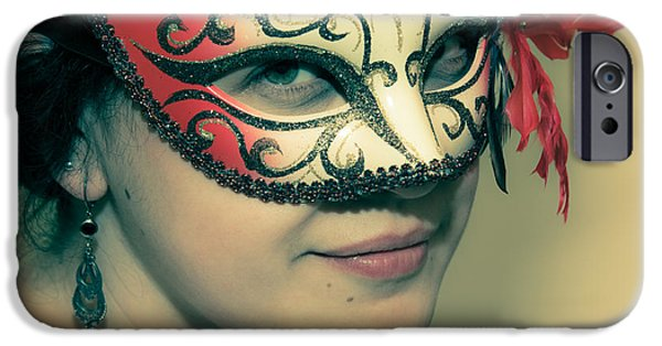 Lips iPhone Cases - Beyond the Mask #01 iPhone Case by Loriental Photography