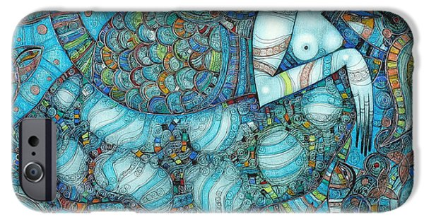 Albena iPhone Cases - Beyond The Oceans... iPhone Case by Albena Vatcheva