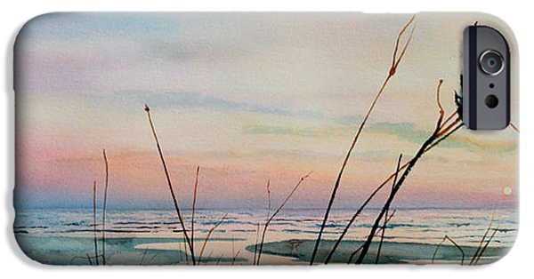 Beach Landscape iPhone Cases - Beyond The Sand iPhone Case by Hanne Lore Koehler
