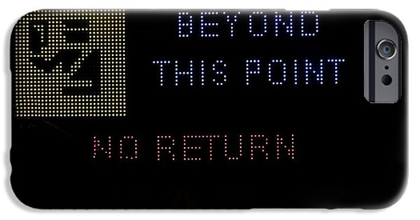 Police Traffic Control iPhone Cases - Beyond this point no return iPhone Case by Georgina Noronha