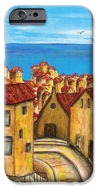 Village Mixed Media iPhone Cases - Biagi in Tuscany iPhone Case by Pamela Allegretto