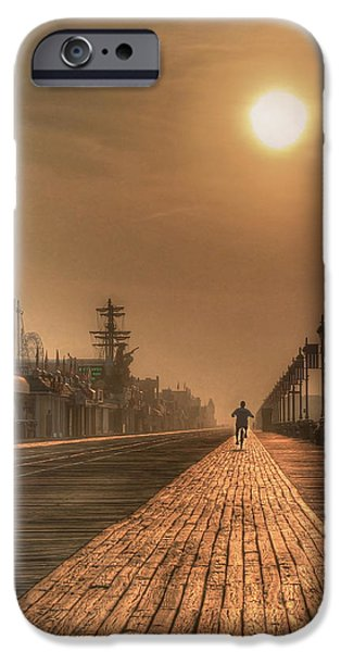 Jersey Shore iPhone Cases - Bicycle Boardwalk iPhone Case by Lori Deiter