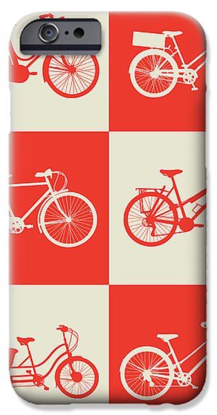 Bicycles iPhone Cases - Bicycle Collection Poster 1 iPhone Case by Naxart Studio
