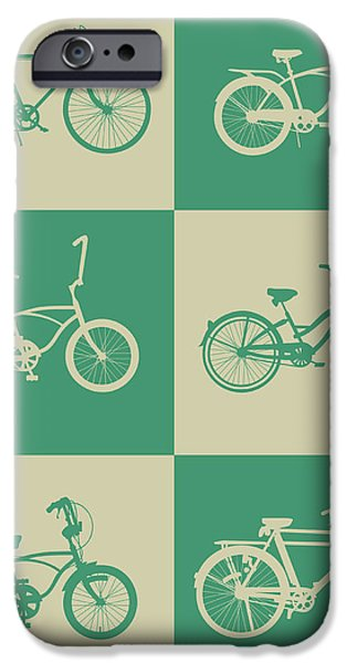 Bicycles iPhone Cases - Bicycle Collection Poster 4 iPhone Case by Naxart Studio