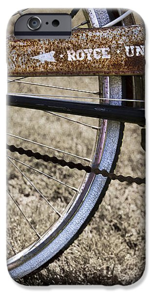 Bicycle Gears iPhone Case by Debra and Dave Vanderlaan
