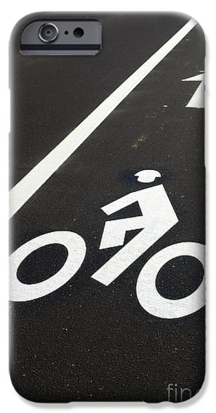 Reserve iPhone Cases - Bicycle Lane iPhone Case by Olivier Le Queinec