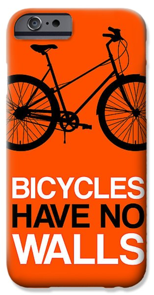 Bicycles iPhone Cases - Bicycles Have No Walls Poster 1 iPhone Case by Naxart Studio