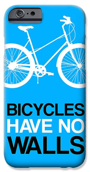 Bicycles iPhone Cases - Bicycles Have No Walls Poster 2 iPhone Case by Naxart Studio