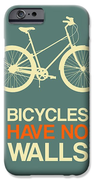 Bicycles iPhone Cases - Bicycles Have No Walls Poster 3 iPhone Case by Naxart Studio