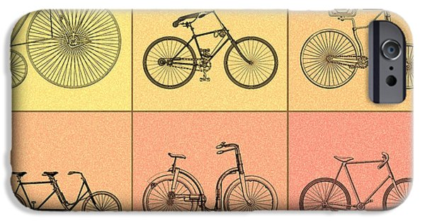Vintage Bicycle iPhone Cases - Bicycles of the 19th Century iPhone Case by Mark Rogan