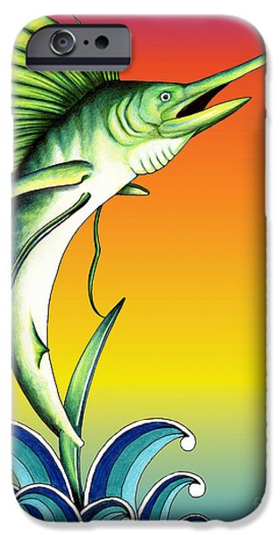 Colour Drawings iPhone Cases - Bid for freedom iPhone Case by Sheryl Unwin