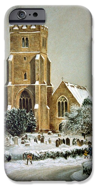 Snow Pastels iPhone Cases - Biddenden Church iPhone Case by Rosemary Colyer