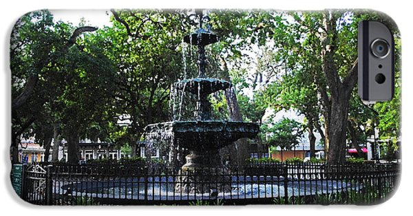 Micdesigns iPhone Cases - Bienville Fountain Mobile Alabama iPhone Case by Michael Thomas