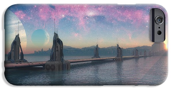 Thor iPhone Cases - Bifrost Bridge iPhone Case by Cynthia Decker