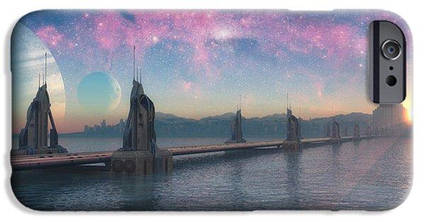 Mythology iPhone Cases - Bifrost Bridge iPhone Case by Cynthia Decker