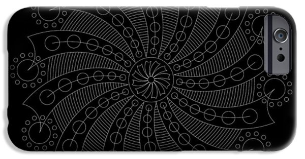 Hieroglyph iPhone Cases - Big Bang Inverse iPhone Case by DB Artist
