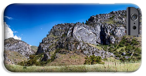 Deep River iPhone Cases - Big Bar Rock Formations iPhone Case by Robert Bales