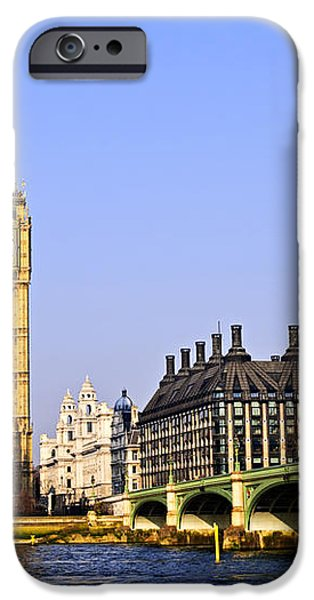 Big Ben and Westminster bridge iPhone Case by Elena Elisseeva