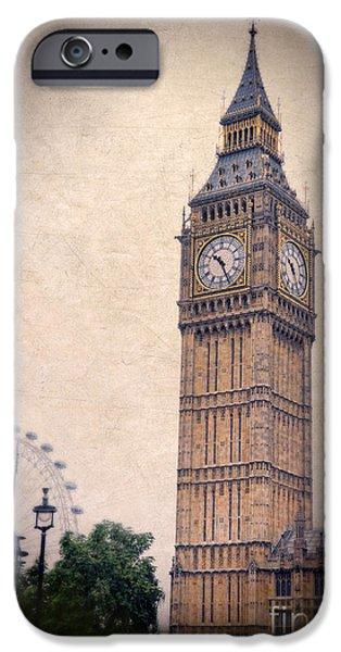 London iPhone Cases - Big Ben in London iPhone Case by Jill Battaglia