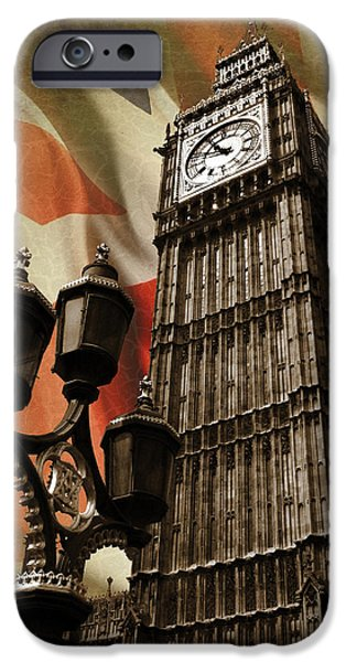Big Ben iPhone Cases - Big Ben London iPhone Case by Mark Rogan