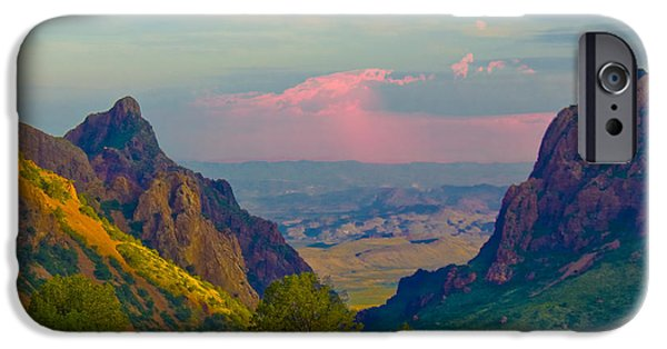 Gary Grayson iPhone Cases - Big Bend Texas from the Chisos Mountain Lodge iPhone Case by Gary Grayson