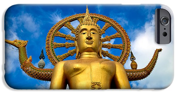 Buddhist iPhone Cases - Big Buddha iPhone Case by Adrian Evans