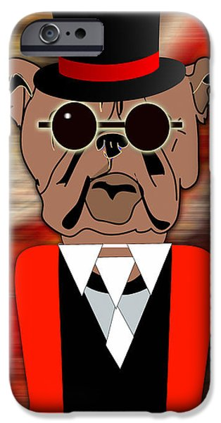 Dogs iPhone Cases - Big Bull Dog iPhone Case by Marvin Blaine