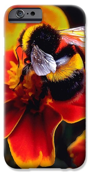 Floral Digital Art Digital Art iPhone Cases - Big Bumble iPhone Case by Bill Caldwell -        ABeautifulSky Photography