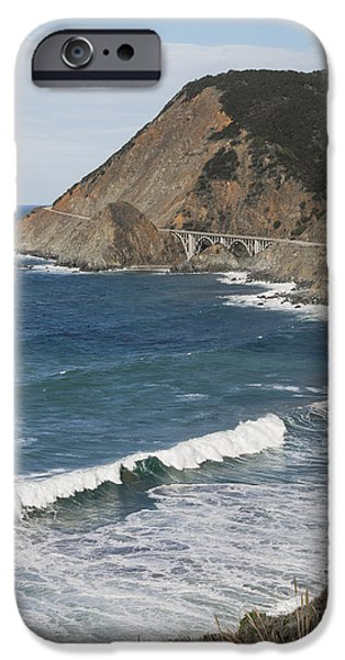 World No. 1 iPhone Cases - Big Creek Bridge From California Route iPhone Case by Harry M. Walker