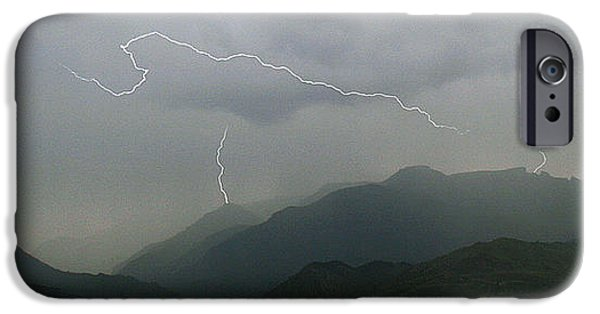 Electrical iPhone Cases - Big Creek Lightning iPhone Case by J L Woody Wooden