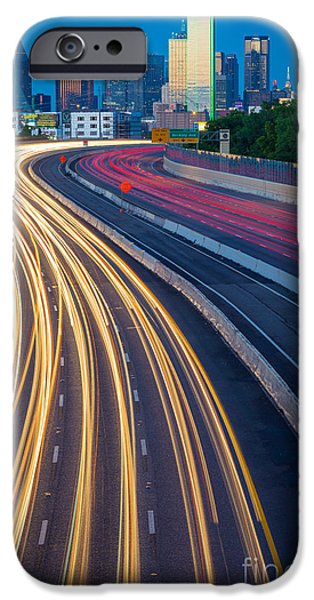 Glass Reflecting iPhone Cases - Big D Freeway iPhone Case by Inge Johnsson