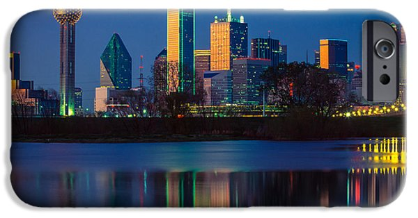 Glass Reflecting iPhone Cases - Big D Reflection iPhone Case by Inge Johnsson