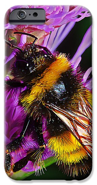 Fuzzy Digital iPhone Cases - Big Dusty Bumble iPhone Case by Bill Caldwell -        ABeautifulSky Photography