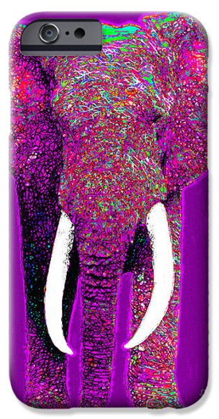 Elephant iPhone Cases - Big Elephant 20130201m68 iPhone Case by Wingsdomain Art and Photography