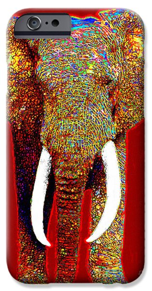 Elephant iPhone Cases - Big Elephant 20130201p0 iPhone Case by Wingsdomain Art and Photography