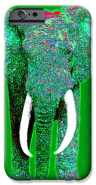 Elephant iPhone Cases - Big Elephant 20130201p128 iPhone Case by Wingsdomain Art and Photography