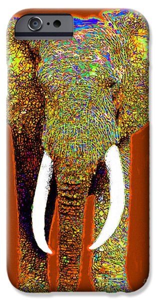 Elephants iPhone Cases - Big Elephant 20130201p20 iPhone Case by Wingsdomain Art and Photography
