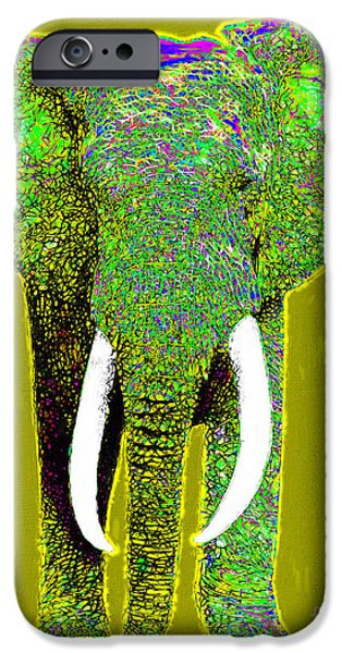 Elephant iPhone Cases - Big Elephant 20130201p60 iPhone Case by Wingsdomain Art and Photography