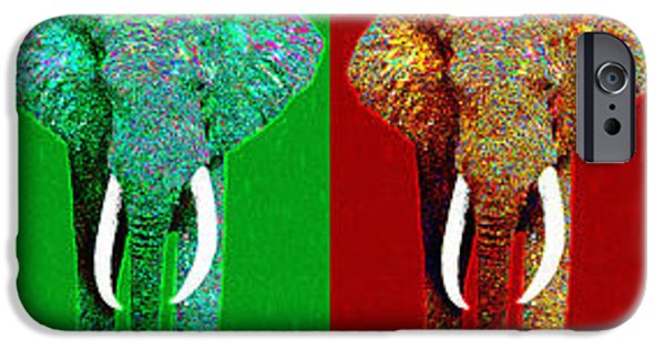 Elephant iPhone Cases - Big Elephant Six 20130201 iPhone Case by Wingsdomain Art and Photography