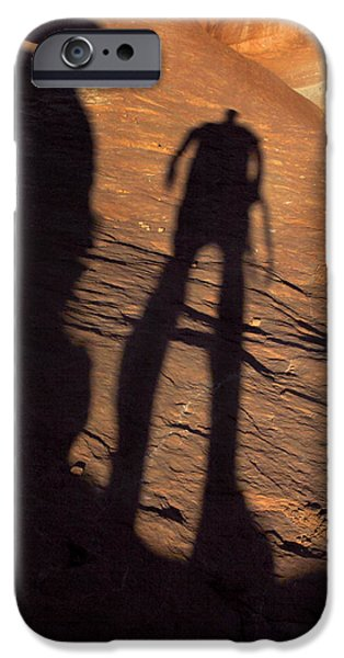 Red Rock iPhone Cases - Big Foot iPhone Case by Mike McGlothlen