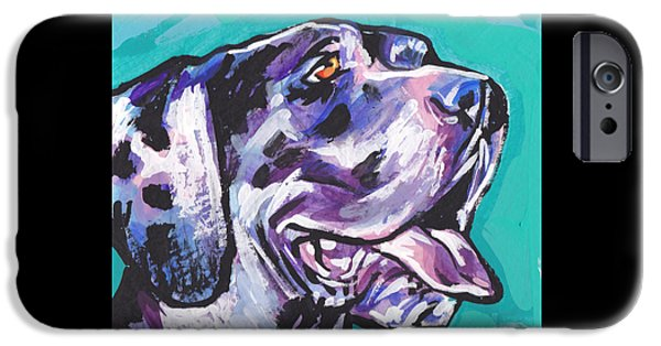 Great Dane Puppy iPhone Cases - Big Harley Quin iPhone Case by Lea