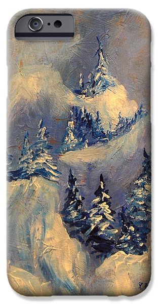 Winter iPhone Cases - Big Horn Peak iPhone Case by Patricia Brintle