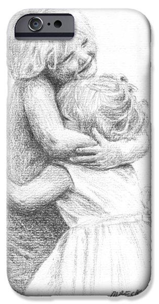 Bonding iPhone Cases - Big Hug iPhone Case by Michael Beckett