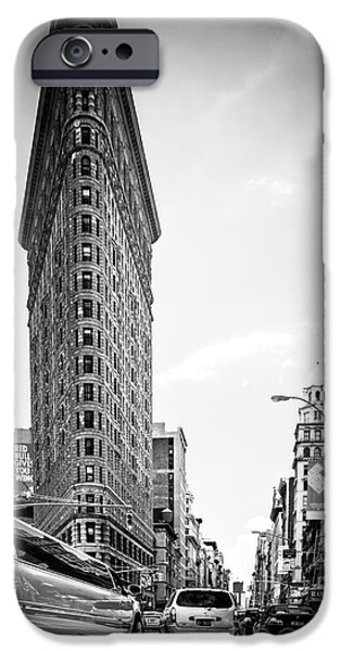 High Tower iPhone Cases - Big In The Big Apple - Bw iPhone Case by Hannes Cmarits