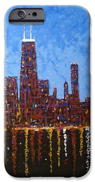Willis Tower Paintings iPhone Cases - Big John iPhone Case by J Loren Reedy