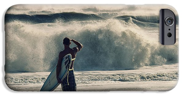 Surfer Art iPhone Cases - Big Kahuna iPhone Case by Laura  Fasulo