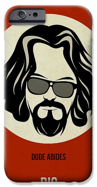 Show iPhone Cases - Big Lebowski Poster iPhone Case by Naxart Studio