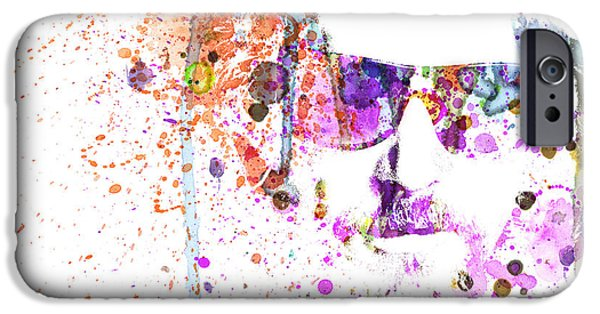 Tv Show iPhone Cases - Big Lebowski Watercolor 1 iPhone Case by Naxart Studio