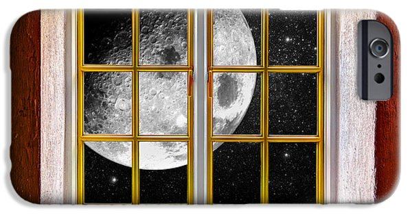 Electrical iPhone Cases - Big Moon iPhone Case by Semmick Photo